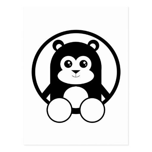 Panda linda tarjeta postal