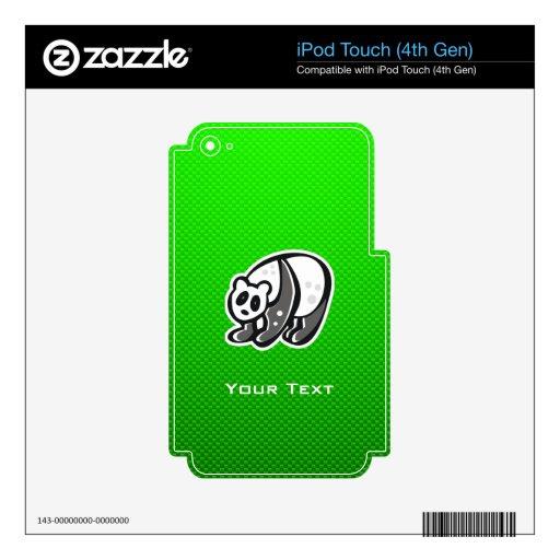 Panda linda; Verde Calcomanías Para iPod Touch 4G