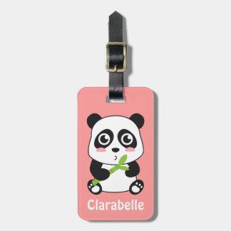 Panda linda y mimosa del bebé etiquetas para maletas