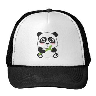 Panda linda y mimosa del bebé gorros bordados