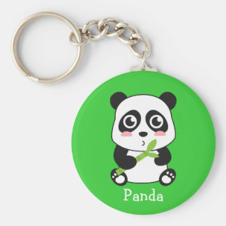 Panda linda y mimosa del bebé llaveros