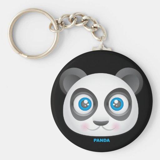 Panda Llavero Redondo Tipo Pin
