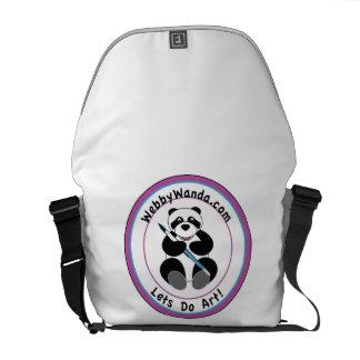 Panda Logo, webbywanda.com Messenger Bag