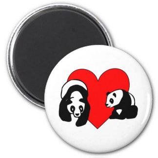 Panda Love 2 Inch Round Magnet