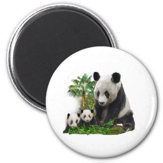 Panda Love art 2 Inch Round Magnet