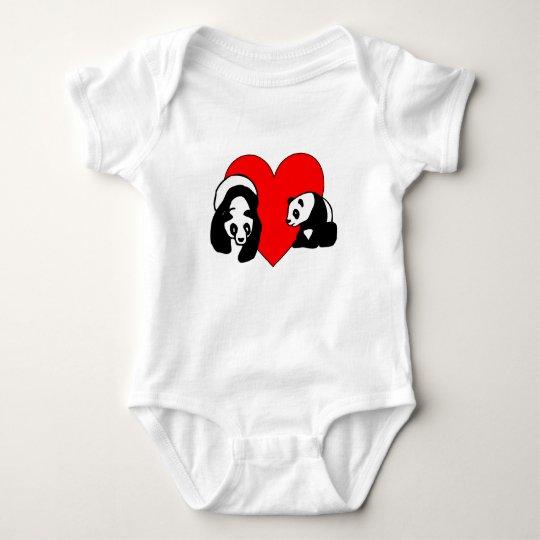 Panda Love Baby Bodysuit