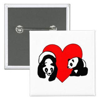 Panda Love Pinback Button