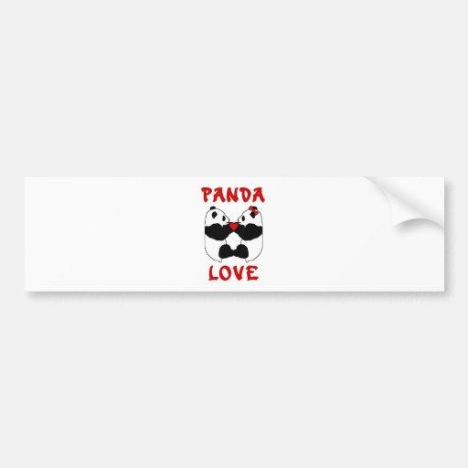 Panda Love Car Bumper Sticker