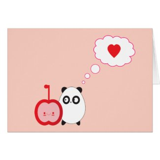 Panda Love Card card