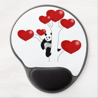 Panda Love Gel Mouse Pads
