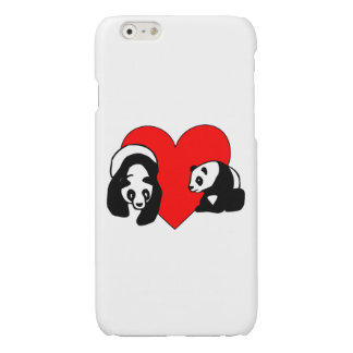 Panda Love Glossy iPhone 6 Case