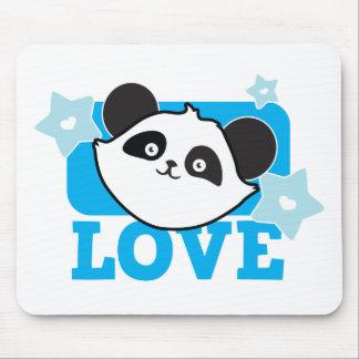 Panda love mouse pad