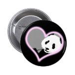 panda love. neon light. buttons