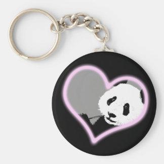panda love. neon light. keychains
