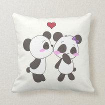 Panda Love Pillows! <3 Throw Pillow