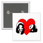 Panda Love Pinback Button