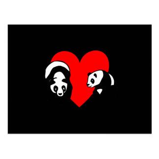 Panda Love Postcard