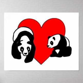 Panda Love Print