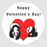 Panda Love Round Stickers