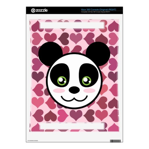 """Panda Love"" Decal For Xbox 360"