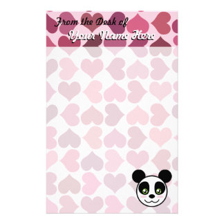 """Panda Love"" Stationery"