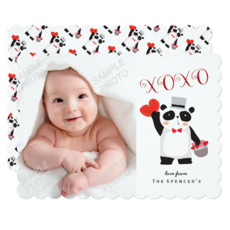 Panda Love Valentine's Day Photo Card