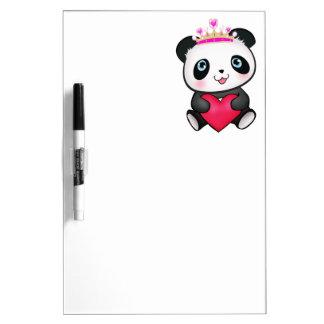 Panda Lover Fan Gift Valentine's Day Heart Present Dry Erase Whiteboard