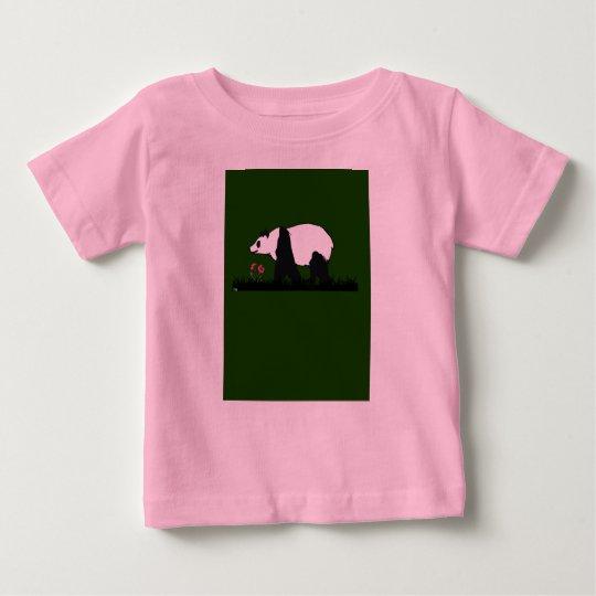 panda loves flowers baby T-Shirt