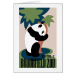 Panda Loves Tree At Zoo 1938 WPA Card