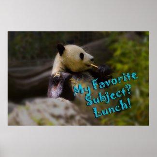 Panda Lunch Poster print