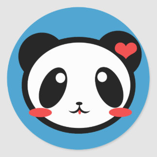 ¡Panda Luv! Pegatina Redonda