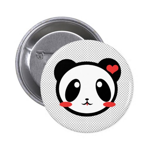 Panda Luv Pin Redondo De 2 Pulgadas