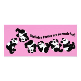 "Panda Mania 4"" X 9.25"" Invitation Card"