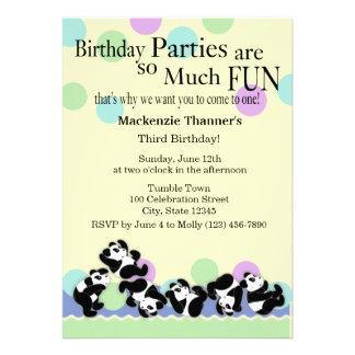 Panda Mania Invites