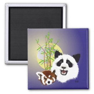 Panda meeting magnet