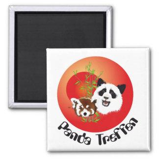 Panda meeting magnet