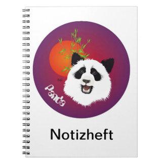 Panda meeting note booklet notebook