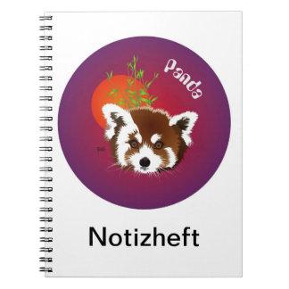 Panda meeting note booklet spiral notebook