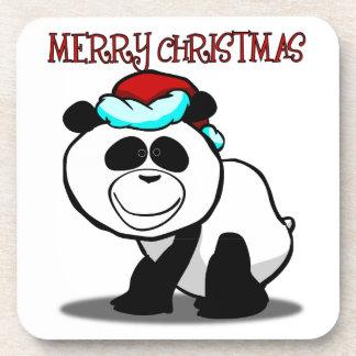 Panda Merry Christmas Coaster