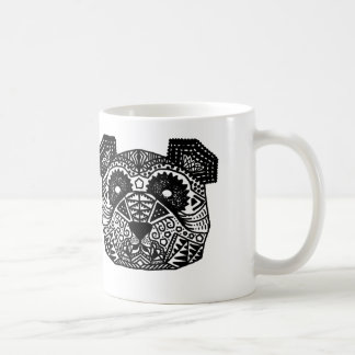 Panda modelada taza básica blanca