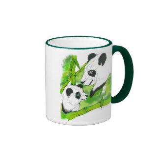 Panda Mom Ringer Coffee Mug