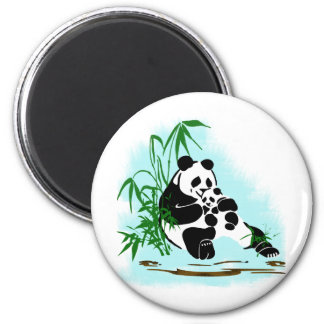 Panda Momma and Baby 2 Inch Round Magnet