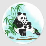 Panda Momma and Baby Stickers