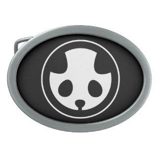 Panda mon oval belt buckle