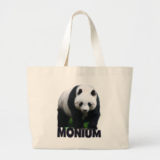 Panda-monium Large Tote Bag