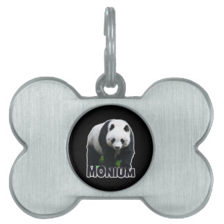 Panda-monium Pet ID Tag