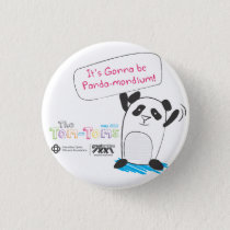 Panda-monium Pinback Button
