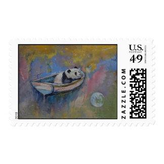 Panda Moon Postage Stamp