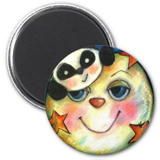 Panda-Moonium 2 Inch Round Magnet