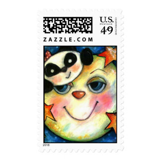 Panda-Moonium Postage Stamps